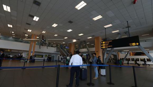 El flujo en aeropuertos por Fiestas Patrias se verá reducido este año por la pandemia. (GEC)