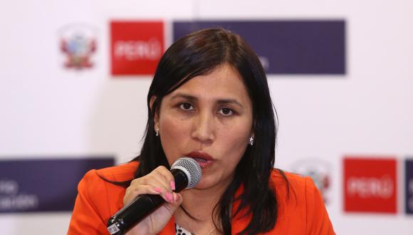 """""""Hemos tomado la decisión de hacer cambios"""", destacó Flor Pablo en diálogo con ElPoli.pe, tras recibir en su despacho a un grupo de deportistas nacionales. (Foto: GEC)"""
