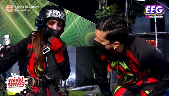 Rosángela Espinoza tuvo que enfrentarse a Luciana Fuster en reto de altura y sufrió ataque de pánico. (Foto: Captura América TV).