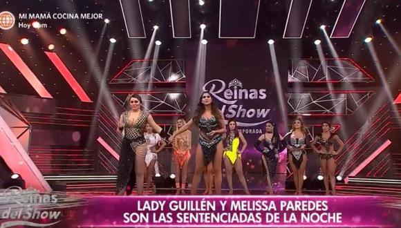 Lady Guillén y Melissa Paredes deberán enfrentarse en un duelo de votos por su permanencia. (Foto: Captura América TV)
