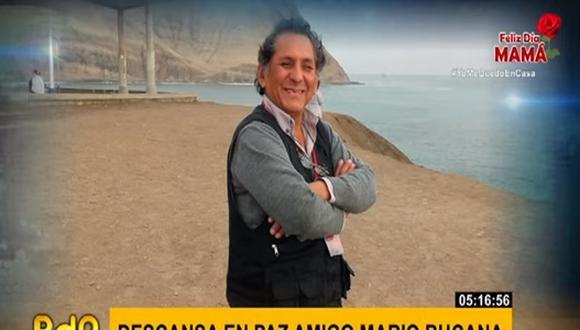 El camarógrafo Mario Bucana murió esta madrugada en el Hospital Essalud Alberto Sabogal Sologuren, informó el noticiero Buenos Días, Perú (Foto: captura)