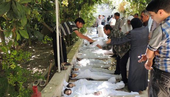 ATROCIDAD. Hay cientos de niños entre las víctimas de uno de los peores ataques de Assad en Siria. (AFP)