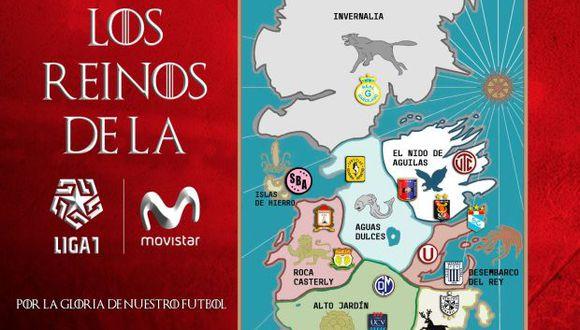 """""""¿Quién se quedará con el trono de la Liga 1 Movistar Apertura?"""", destacó este miércoles la organización de la Liga 1 a través de las redes sociales. (Foto: Liga1Movistar)"""