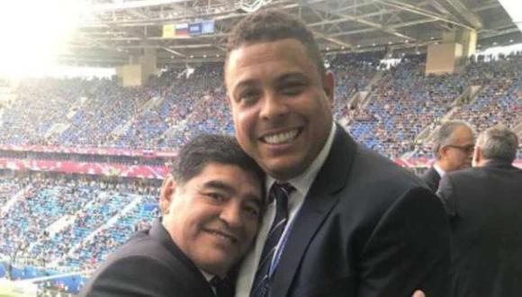 Ronaldo Nazario contó una anécdota con Diego Maradona. (Foto: Twitter)