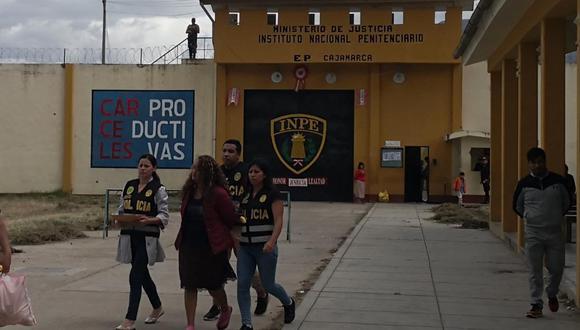 Cajamarca. Mujer fue detenida en el control de visitas del penal de esta ciudad. (GEC)