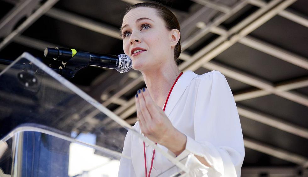 """La actriz Evan Rachel Wood confesó que también fue víctima de una """"relación abusiva"""". (Foto: AFP)"""