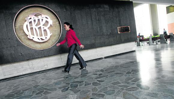 FACHADA BANCO CENTRAL DE RESERVA LOGO DEL BCR INTERIOR. (Foto: GEC)