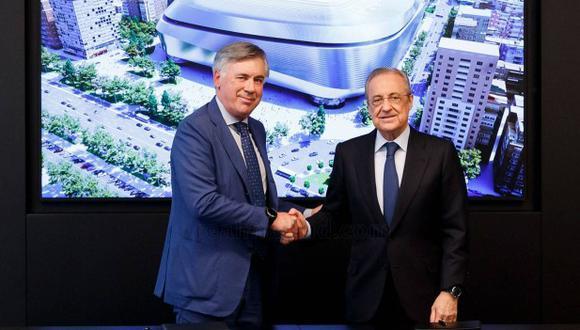 Carlo Ancelotti fue presentado como DT de Real Madrid. (Foto: Real Madrid)