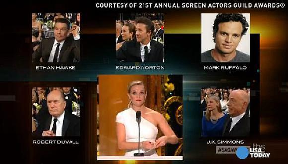 SAG Awards: Una ronda de aplausos 'fantasma' interrumpió a Reese Witherspoon.(USA Today)