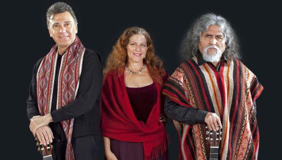 'Manuelcha' Prado, Javier Echecopar y Pepita García Miró juntos en concierto. (USI)