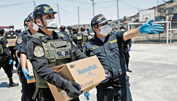 HONGUEADAS. Las mascarillas N-95 llegaron en mal estado. Es por eso que a un buen número de policías solo se les repartió de tela.