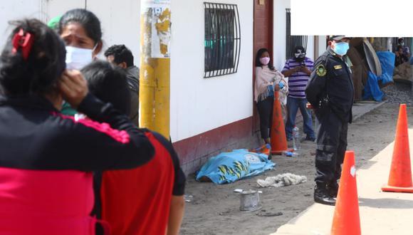 La víctima fue identificada como Miguel Soto Blanco. (Foto: Gonzalo Córdova/@photo.gec)