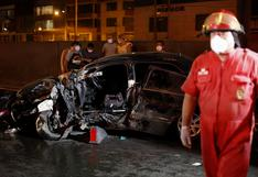 SMP: chofer resultó herido tras chocar contra muro de contención de la Panamericana Norte