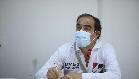 """""""Se tiene que elegir a personas que puedan conducirse honestamente, honradamente, que no respondan a grupos de poder, a grupos mafiosos"""", señaló Lescano. (Foto: GEC)"""