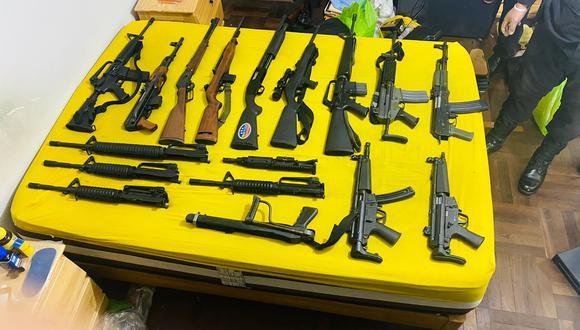 Armas estaban ocultas en closet que tenía doble fondo (GEC)