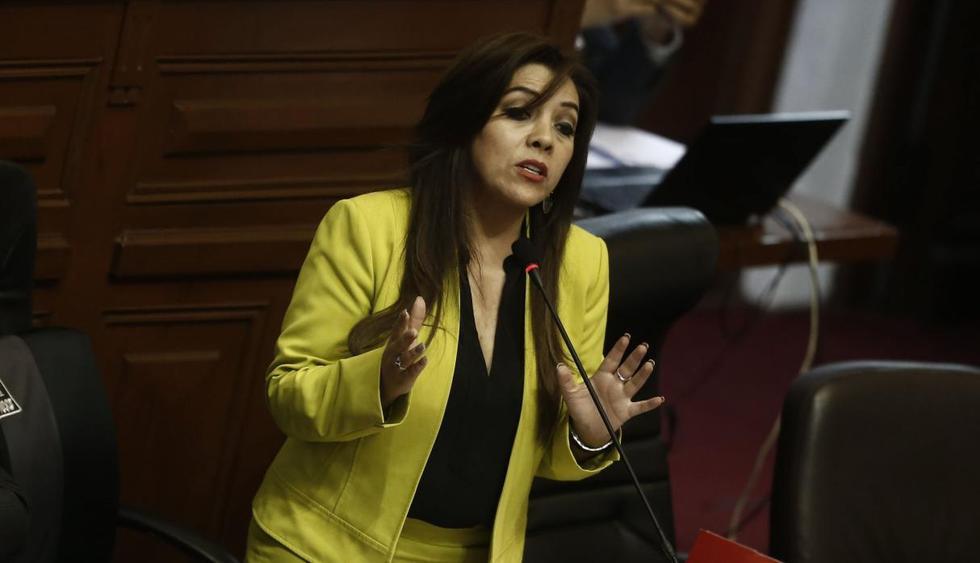 Congresista Alejandra Aramayo calificó de locura que Yonhy Lescano quiera ser presidente del Congreso. (USI)