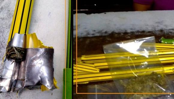 Pucallpa: Intervienen a mujer por intentar ingresar a penal con droga escondida en palos de escoba (Foto: INPE)
