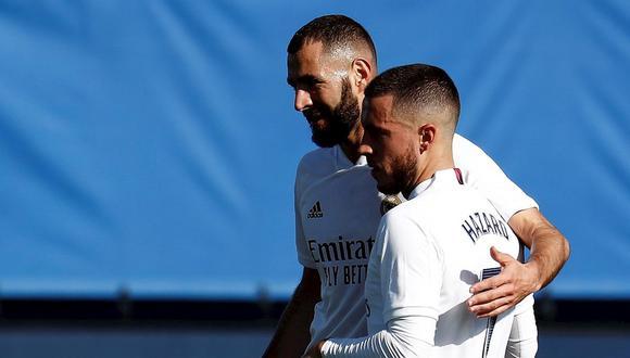 Eden Hazard anotó el 1-0 del Real Madrid ante Huesca. (Foto: EFE)
