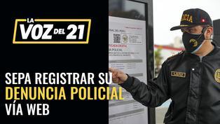Sepa como registrar su denuncia policial digital