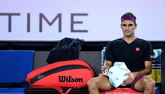 Roger Federer se retiró del Abierto de Australia. (Foto: EFE)
