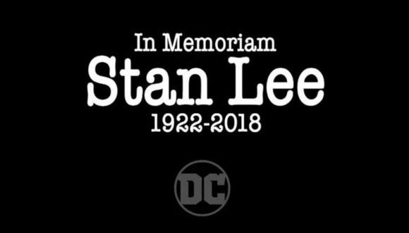 DC Comics decidió homenajear a Stan Lee en una nueva publicación. El cerebro de Marvel pasó a mejor vida el 12 de noviembre. (Foto: DC Comics)