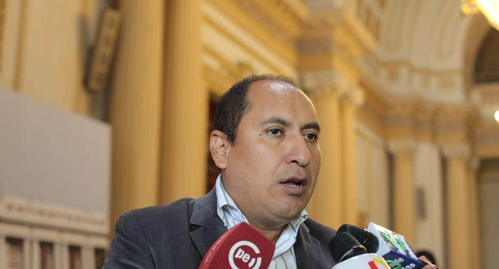 El congresista por Apurímac Richard Arce, de Nuevo Perú, aseguró que Jorge Paredes Terry ha sido desacreditado por los comuneros. (Foto: GEC)