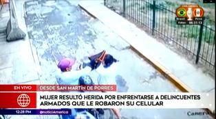 Mujer se enfrenta a malhechores para evitar robo en San Martín de Porres