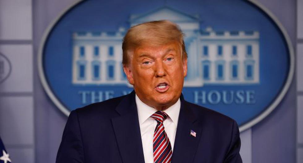 El presidente de Estados Unidos, Donald Trump, habla sobre los resultados de las elecciones presidenciales en la Sala de conferencias de prensa Brady en la Casa Blanca en Washington. (REUTERS/Carlos Barria).