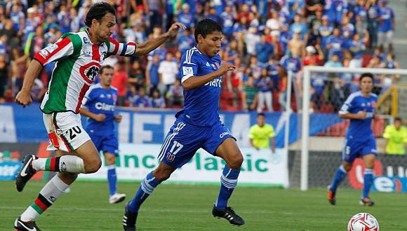 Ruidiaz lleva anotado cuatro goles en el torneo chileno. (Difusión)