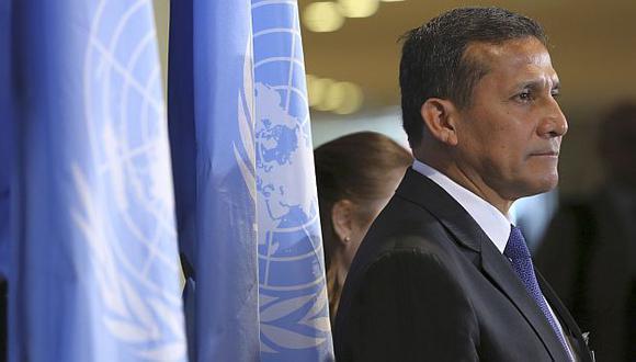 Ollanta Humala participa en la Asamblea de la ONU en Nueva York. (AP)