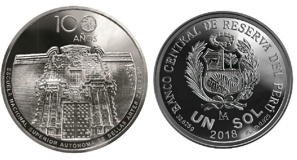 BCR lanza moneda conmemorativa por los 100 años de la Escuela de Bellas Artes del Perú