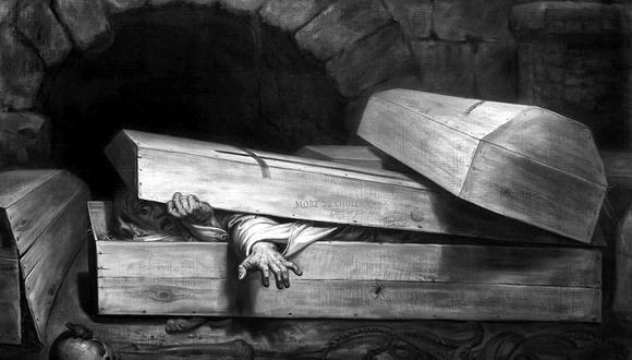 """El periodista e historiador Juan Antonio Sanz ha investigado la historia de los vampiros analizando documentos y acudiendo a los lugares donde este fenómeno es más intenso. La imagen corresponde a la obra """"Entierro prematuro"""", de Antoine Wiertz (1854)."""