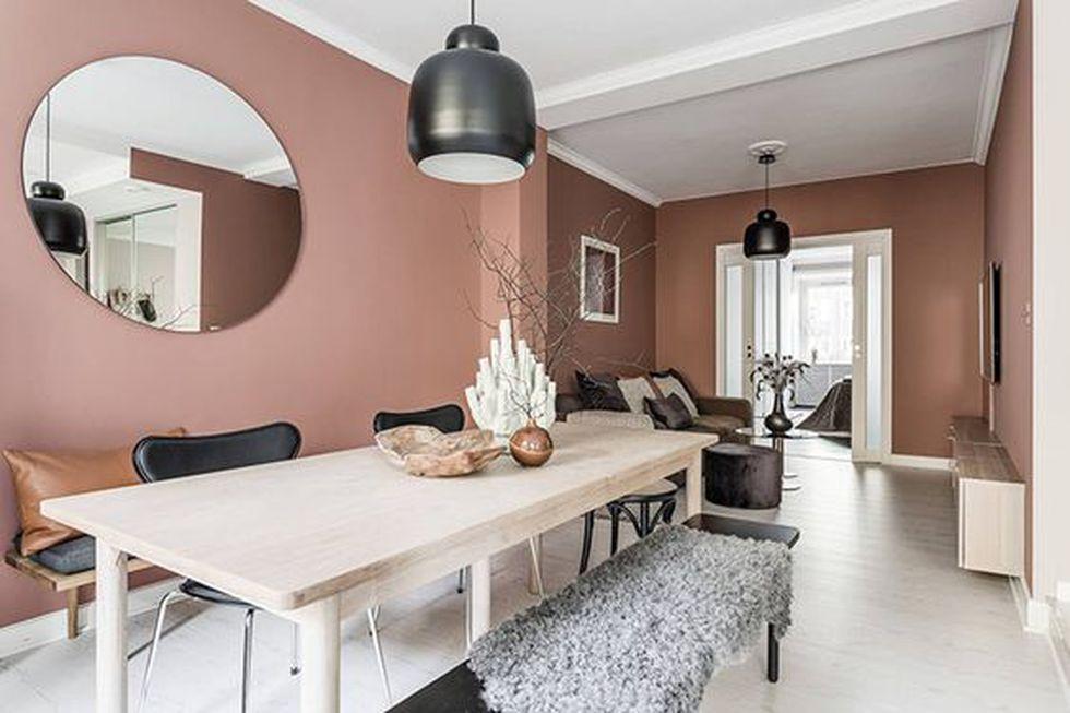 El terracota es perfecto para pintar tu comedor o sala. (Foto: Pinterest Milideas)
