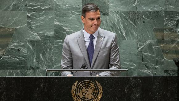 Pedro Sánchez llegó hasta la ONU y habló del estado de la isla tras la explosión del volcán.  (Foto: Eduardo Muñoz / AFP)