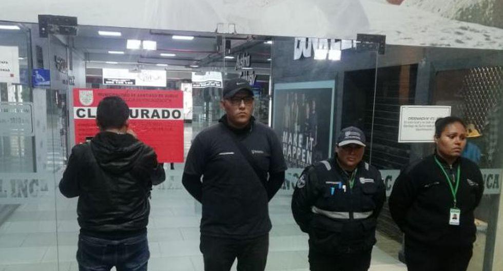 La Municipalidad de Surco informó que los establecimientos no contaban con adecuadas medidas de seguridad. (Foto: Municipalidad de Surco)