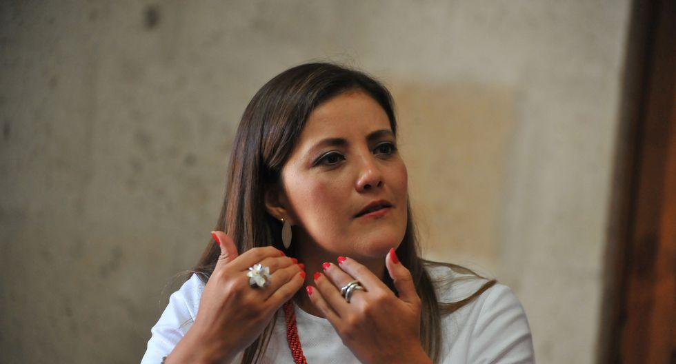 La gobernadora regional de Arequipa no se guardó nada.