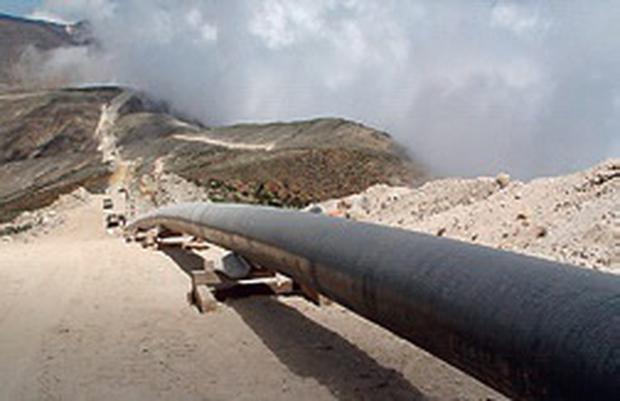 Impresionante vista del tendido del gasoducto que atraviesa diferentes geografías. (Fotos GEC)