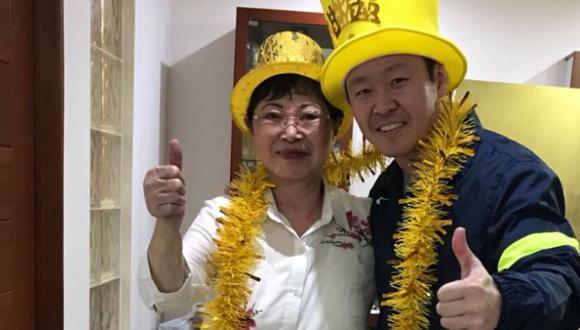 Congresista de Fuerza Popular inició el 2018 junto a su madre. (@KenjiFujimoriH)