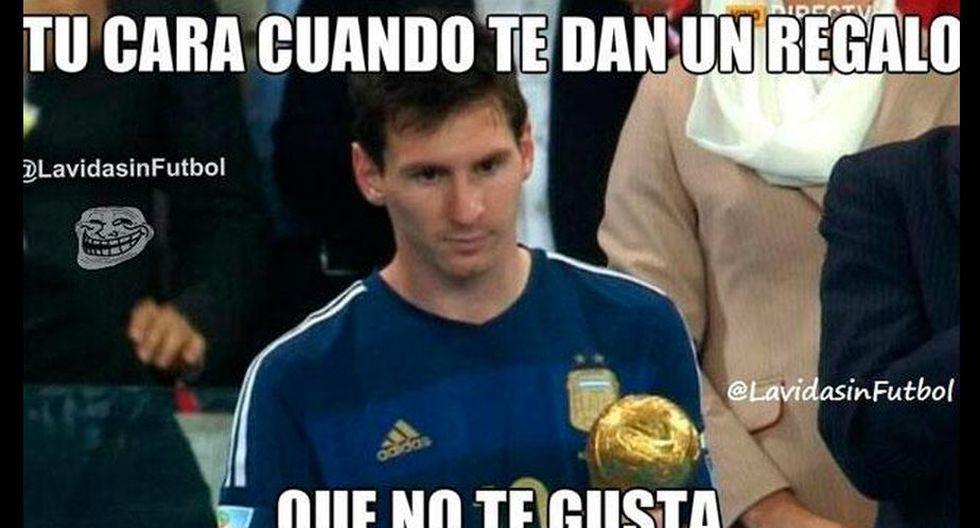 Lionel Messi fue elegido como el mejor jugador del partido.