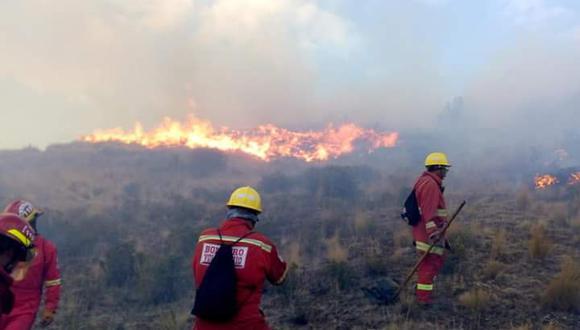 Indeci informó que todos los incendios forestales fueron extinguidos a excepción del que se presenta en el distrito de Tamburco, ubicado en la provincia de Abancay, región Apurímac. (Foto: Referencial/COEN)