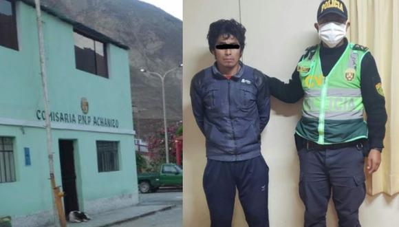 Arequipa: Sujeto arroja aceite caliente en el rostro a su esposa porque negarse a que revise su celular. (Foto PNP)
