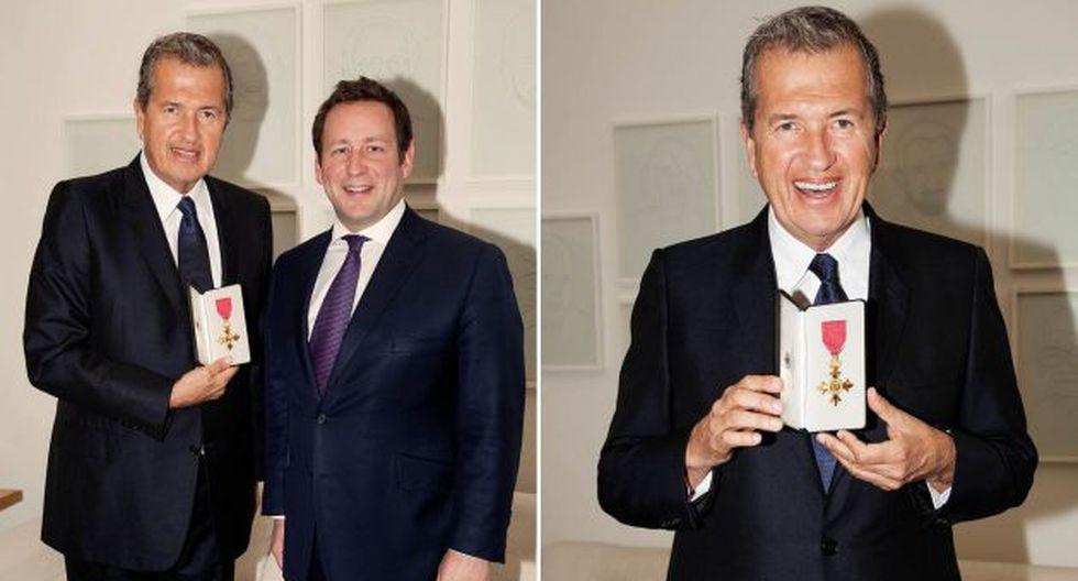 Ministro de Cultura entregó a Mario Testino la Orden del Imperio Británico. (Ministerio de Cultura británico)