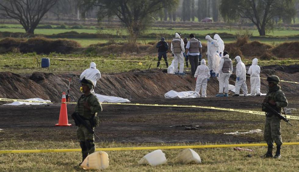 Sube a 115 la cifra de muertos al estallar toma clandestina de gasolina en México. (Foto: AFP)