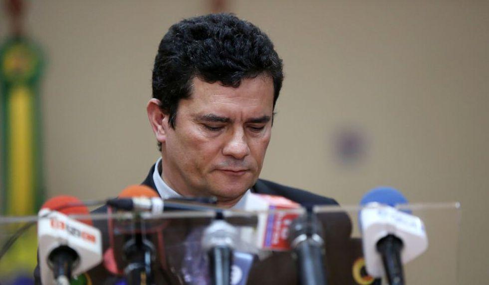 Sergio Moro, ministro de Justicia de Jair Bolsonaro, se encuentra en medio de un escándalo tras la filtración de conversaciones privadas. (Reuters)