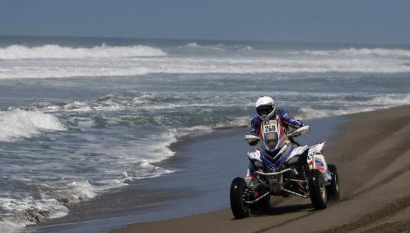 SIGUE EN LA LUCHA. Ignacio Flores es el piloto peruano mejor ubicado en el Rally Dakar. (Luis Gonzáles)