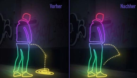 Tipos que orinan en la calle tienen los días contados en Alemania.  (YouTube)