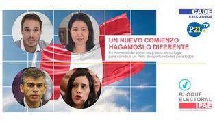 CADE ejecutivos: Forsyth, Fujimori, Guzmán y Mendoza debaten en el bloque Electoral 2021