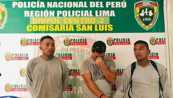 Los sujetos fueron intervenidos cuando merodeaban el parque Los Reyes, donde una empresa ejecuta una obra municipal. (Municipalidad de San Luis)