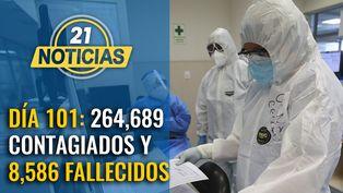 Cifras se elevan a 264,689 contagios y 8,586 fallecidos por COVID-19