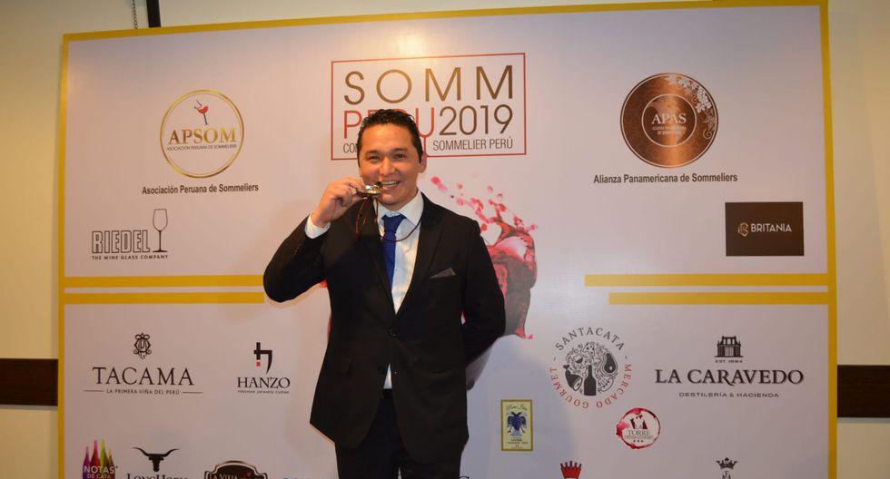 El Sommelier Joseph Ruiz Costa ganó el primer lugar. (Foto: Apsom)